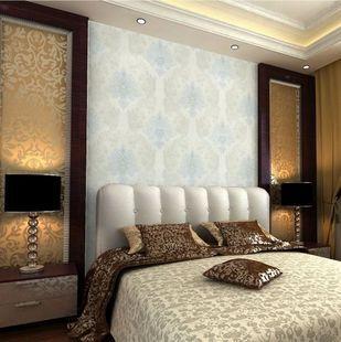 十大品牌 欧雅壁纸 A70604欧式简约大马士革图案无纺布墙