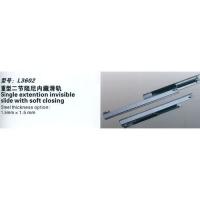 南京乐蒂诗家具五金-重型二节阻尼内藏滑轨L3602