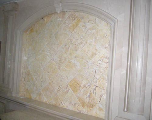 仿石材电视墙效果图-重庆石材 背景墙