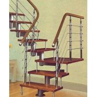 不锈钢实木楼梯