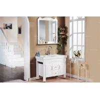 [诺珂] 现代风格 纯白实木浴室柜 全新正品