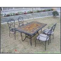 专业定做户外花园,沙滩桌板岩文化石桌面