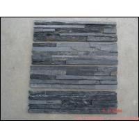 黑色板岩文化石毛边条,建筑装饰墙