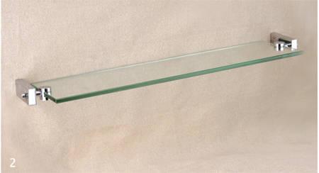 单层玻璃置物架