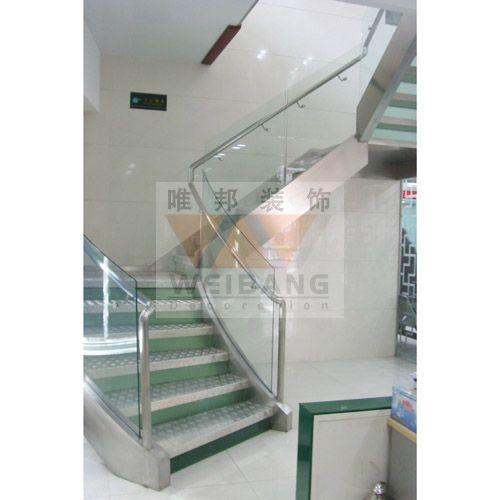 南京包不锈钢楼梯 玻璃护栏图片