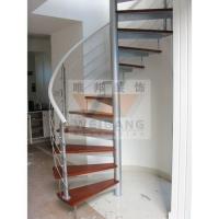 南京钢木楼梯-旋转楼梯