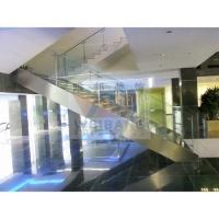 南京工程楼梯-南京包不锈钢、铺大理石楼梯