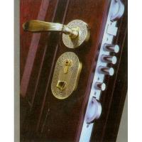 新王门业-合金镀铜分体执手锁