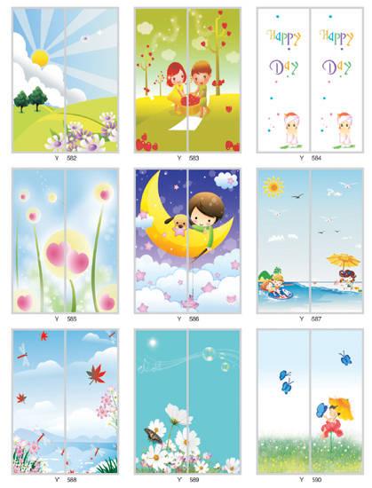 儿童房卡通系列68|得尔佳衣柜门图片