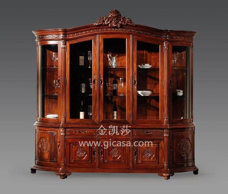 实木书柜-实木家具十大品牌-金凯莎欧式家具