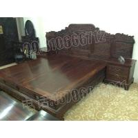 老挝黑酸枝富贵大床,交趾黄檀富贵大床,老红木富贵大床