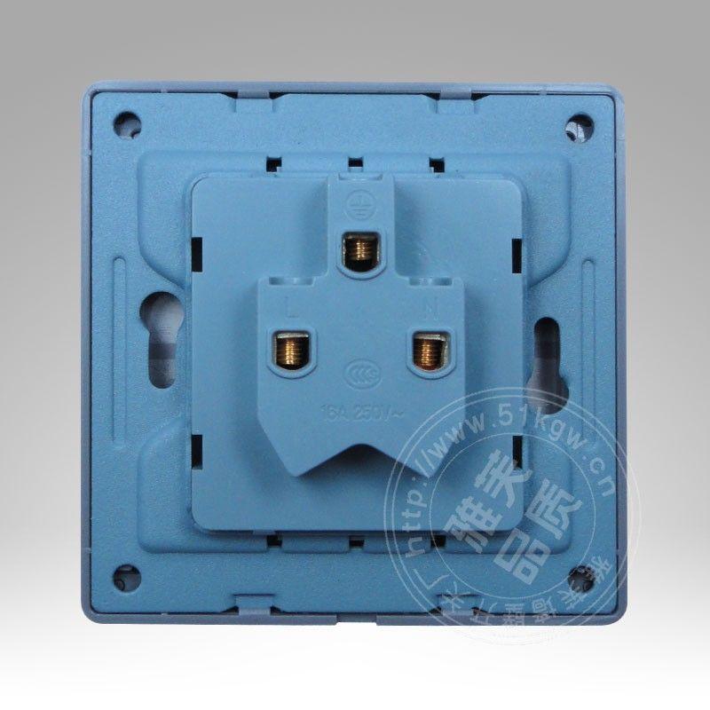 不锈钢拉丝豪华款空调插座面板16a三孔插座