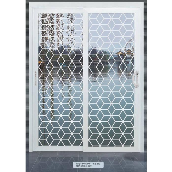 d-1246(艺雕)|白色欧式吊趟门
