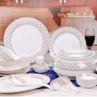 陶瓷餐具图片,56头陶瓷餐具,釉中彩陶瓷餐具