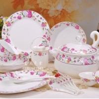 陶瓷餐具生产厂家及公司  陶瓷餐具供应 56头陶瓷餐具
