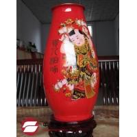 中国红花瓶