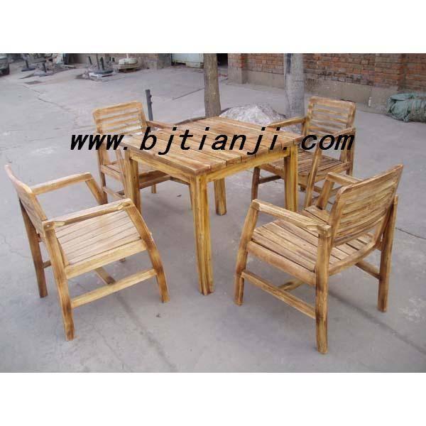 防腐木桌椅 户外防腐木桌椅