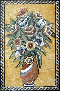 成都名家-花卉拼图马赛克