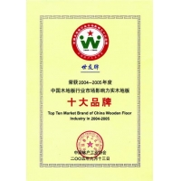 中国木地板行业市场影响十大品牌