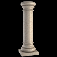 天然石材柱子|西安龙旺石材