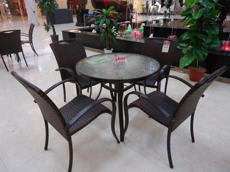 藤艺桌椅/仿藤桌椅/庭院桌椅/户外桌椅/野餐桌椅/休闲桌椅