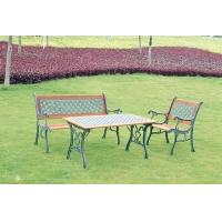 环保木铸铁户外休闲花园桌椅