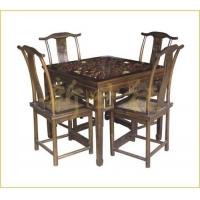 仿古家具:J-029 方格子桌、餐椅