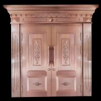 豪华不锈钢镀钛仿铜门