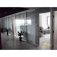 西安高间隔西安高隔断西安高隔间西安成品玻璃隔断-双玻百叶1