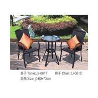 酒店桌椅、休闲家具、PE藤室内桌椅,塑料藤组合家具