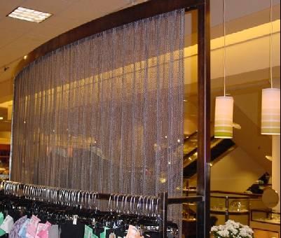 生产金属隔断网帘,金属屏风装饰网,金属灯饰垂帘