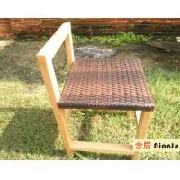 2011热门新款酒店客房专用椅PS仿木环保藤编椅