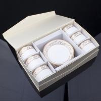 骨质瓷 咖啡杯碟 12头中式咖啡杯具 茶杯 咖啡杯