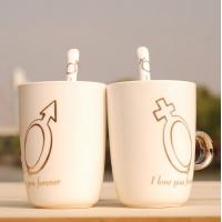 戒指杯子 情侣杯 陶瓷杯子 钻戒杯 咖啡杯 马克杯 创意杯