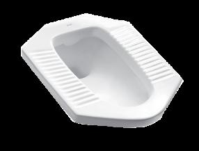 成都恒洁卫浴存水式蹲便器H306