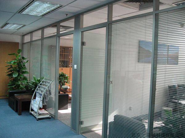 双层钢化玻璃内置百叶隔断 铝合金中空玻璃百叶隔墙