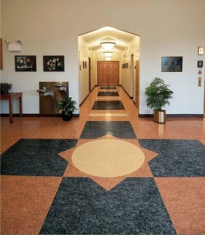 阿姆斯壮美莱亚麻地板,适用于学校 医院 办公 机场 健身房