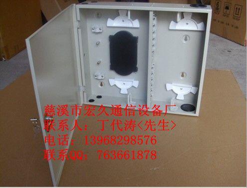 室外壁挂式24芯光纤配线箱 24芯光纤分纤箱 24芯光缆分线产品图片,