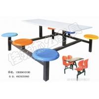 洛阳桌椅厂家供应快餐桌/学生餐厅餐桌/学生食堂折叠餐桌椅