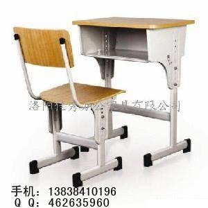 焦作校用办公家具厂家供应学生用课桌 学生升降课桌椅