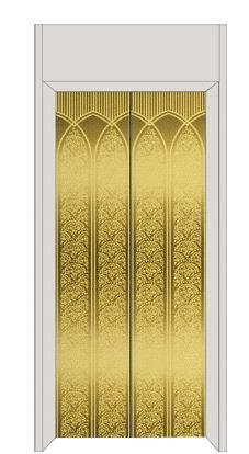 彩色不锈钢金黄蚀刻花纹电梯门装饰板