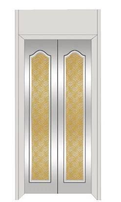 不锈钢镜面蚀刻金黄花纹电梯门装饰板