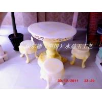 玉石家具 玉石餐桌餐椅 玉石楼梯
