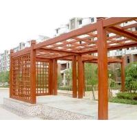 户外防腐木花架-陕西西安顺达园林景观建材