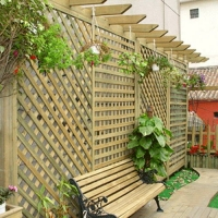 防腐木百叶窗栅栏-陕西西安顺达园林景观建材