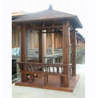 碳化木亭子-陕西西安顺达景观建材