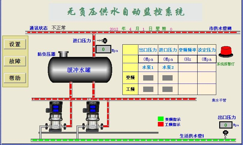 "CPC-2/3型变频恒压供水控制器是我公司专为恒压供水系统开发生产的控制模块,开发人员希望本产品象变频供水柜中的一个""交流接触器""一样应用简单,接线方便。使调试人员和用户更快的理解变频供水的原理。它包含了恒压供水的许多功能;例如双压力设定,两种压力相互切换,外部水池无水报警,水泵抽真空无水报警,小流量工作方式多种选择,增泵延时,减泵延时,内置PID调节等功能。面板数字显示当前压力、频率参数,所有设定参数可以直接从面板输入数字量,并不需要特殊仪器或专业编程人员。另外外围所配的是远传压力表,与常规的压力传"