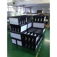 塑框V型W型组合式过滤器 大风量型亚高效过滤器