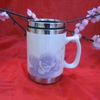 礼品保温杯|景德镇陶瓷保温杯|陶瓷不绣钢杯|景德镇陶瓷保温杯