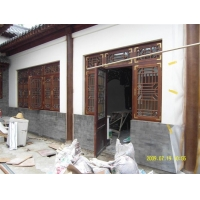木雕工艺屏风,挂落。古典家具定制